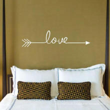 Amor Seta Decalque Sala Quarto Vinil Wall Decal Sticker