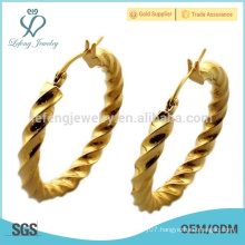 Wholesale stainless steel 18k gold earrings for young girls