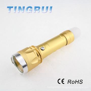 Chargeur de téléphone portable Lampe de poche Usb Rechargeable Mini Led Torch