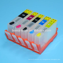 HP670XL HP655XL HP685XL Cartucho de tinta recargable para HP Deskjet Ink Advantage 3525 5515 4615 4625 Impresoras