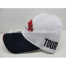 Casquillo del acoplamiento del algodón del golf de la alta calidad con la gorra de béisbol de los deportes del bordado 3D