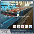 Proveedor de China Acero galvanizado Trapezoidal perfil de frío formado máquina de acero de la azotea
