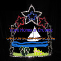 6inch Star Sailing Boat Crystal Summer Pageant Crowns
