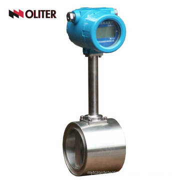 intelligent free shipping 4~20ma type flow meter wafer connection DN80 vortex flowmeter with display