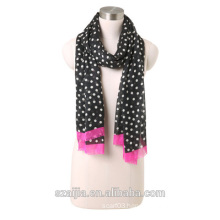Laides dot printed voile scarf
