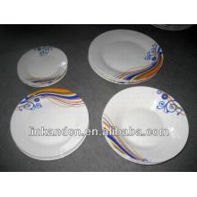 Haonai Ensemble de dîner en porcelaine de style occidental 18pcs