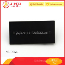 Standard Card Size Name Plate, customized engraved letters black metal label