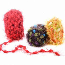 Acrylic Knitting Yarn, Made of Acrylic, Woolen, Polyester and Blended Yarn