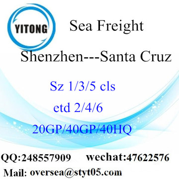 Shenzhen Port Sea Freight Shipping Para Santa Cruz