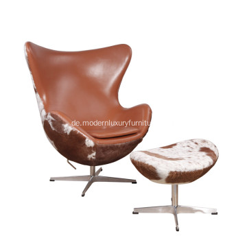 Arne Jacobsen Leather Iconic Ei Stuhl Replik