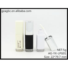 New Arrival Plastic Quadrate Lip Gloss Tube AG-YX-LPG01, AGPM Cosmetic Packaging , Custom Colors/Logo