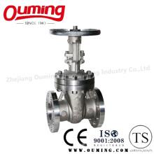 ANSI Válvula de compuerta con brida de acero inoxidable con manivela