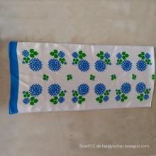 100% Seide Satin Blaue Blume Kleine Handtuch Lange Schal