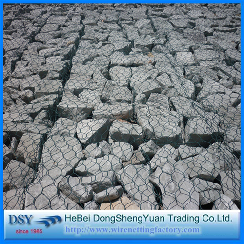 Galvanized/ PVC Coated Hexagonal Gabion Basket