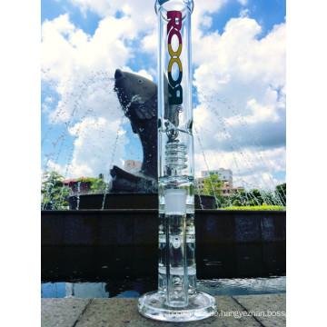 17 Zoll Roor drei Ebenen Wabe und Reifen Perkolator Glas Rohr, Rauchen Wasser Rohr mit Fabrik Preis