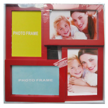 Red 4 openings Collage Photo Frames