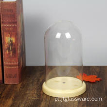 D12*H20cm Glass Dome With MDF Base