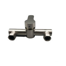 Multifunctional two hole hot and cold water basin faucet bathroom basin ceramic basin dual purpose side on tap switch