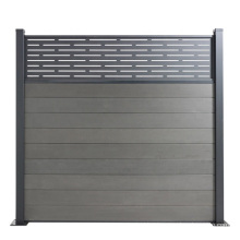 6FT 8FT American Garden Trellis Hollow Wood Plastic Composite WPC Balcony Privacy Fence Profile Horizontal Slat Outdoor Fencing