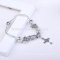 Women Jewelry Accessories Colorful beads Jesus cross bracelet OEM