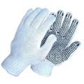 Gants pvc pointu pvc gants en coton pointillé gants de travail