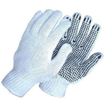 Luvas de pvc pontilhada pvc pontilhada luvas de algodão luvas de trabalho