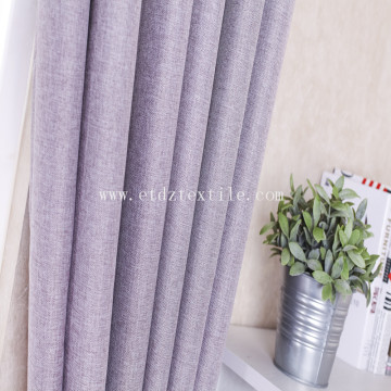 Linen like blackout window fabric