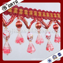 2016 Competitive products Handcraft for Home Decoration and Curtain Accessories of Decorative Crystal Beads Fringe