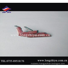 Custom Metal Printed Logo and Epoxy Airplane Pin Badge