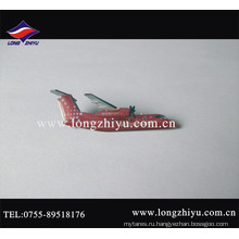Изготовленный на заказ металл напечатанным Логосом и эпоксидной значок самолета
