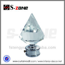 hot sale crystal glass finials for curtain rods