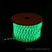LED Rope luz redonda 2 hilos verde para la decoración de Navidad
