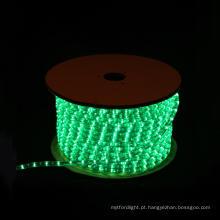 LED luz corda rodada 2 fios verde para decoração de Natal