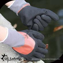 SRSAFETY 15G трикотажный нейлон 3/4 с двойным покрытием для нитриловых перчаток