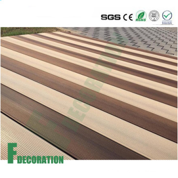 Waterproof Wood Grain WPC Boardwalk Decking Flooring