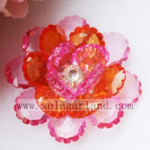 41MM Acrylic Crystal Artificial Beading Decorative Flowers