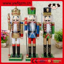 nouveaux produits de noël sculpture sur bois statue casse-noisette jouets