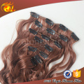 Hot sale american salon used top grade clip in brazilian human hair