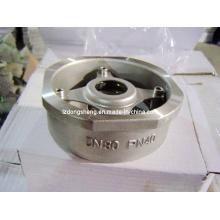 Válvula unidirecional do tipo da bolacha do aço inoxidável Pn40