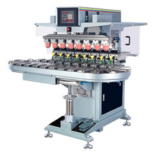 Eight Color Pad Printing Machine with Coveyor, with Inkwell