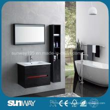 Hot Sale Wood Veener Wall Mounted Bathroom Cabinet (SW-WV1202)