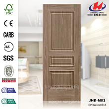 JHK-M03 Wood Grain And Raised Texture Walnut MDF ISO9001 Entry Door Skin