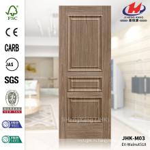 JHK-M03 Древесное зерно и приподнятая текстура Орех МДФ ISO9001 Входная дверь