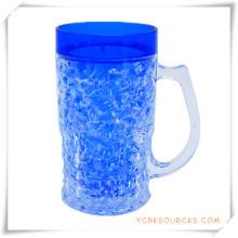 Doppelwand Frosty Mug Frozen Ice Bierkrug für Werbegeschenke (HA09071-1)