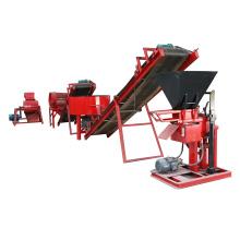 FL1-25 moteur diesel / electiric type bloc de brique de sol hydraulique faisant la machine chine prix