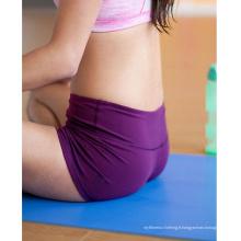 Shorts sexy de yoga de conception faite sur commande de 2014, shorts de gymnastique pour des femmes