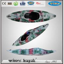 Kayak de agua blanca con control de pie inflable