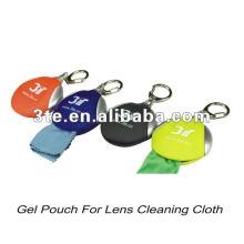 Bolsa de gel pano de limpeza microfibra lente para dom óptico