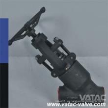 A105 Tipo Y Válvula de Globo de Acero Forjado Fabricante