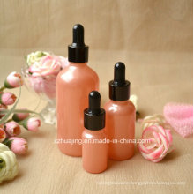10ml 30ml 100ml Pink Dropper Glass Bottle